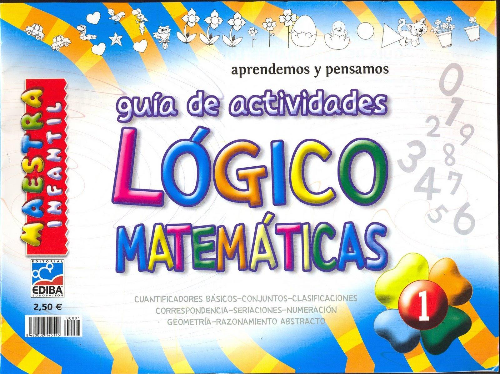Maestra Jardinera: Guía de actividades lógico matemáticas n°1